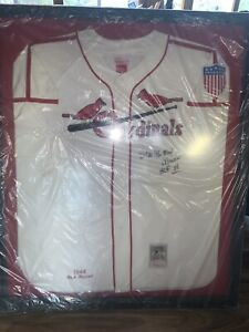 Stan Musial Autographed Jersey Cardinals!!! Cooperstown HOF FRAMED