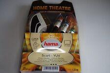 2 x Hama Home Verbindungskabel Scart zu 3 Cinch Kabel Adapter - 1,5 Meter - gold