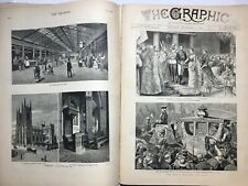 ANTIQUE 1879 THE GRAPHIC Illustrated Newspaper England Art Engravings Ads UK
