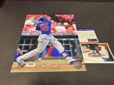 Jorge Soler Chicago Cubs Autographed Signed 8x10 PSA DNA COA