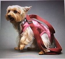 BURGUNDY pink hearts stretchy pet small dog carrier harness sling puppy purse