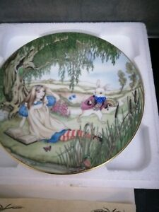 Bradford Exchange collector plates Alice in Wonderland x 2