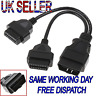 NEW OBD2 OBD II 16Pin Splitter Extension Y Cable Male to Dual Female 30cm