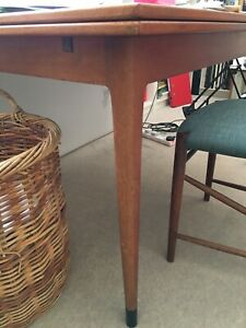 heals dining table With Two Extending Sheets 53cm Long. Original 1960s