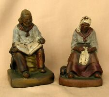 """Armor Bronze Co. New York """"Joan and Darby"""" 1920's Bookends"""