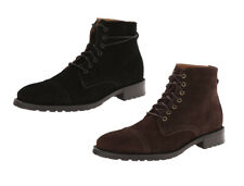 JD Fisk Men's Garrison Fashion Suede Lace Up Winter Snow Boots, Black and Brown