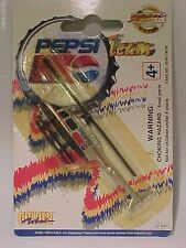 Helicopter Pepsi-Cola Promotional Golden Wheel 1/100 Mint on Card Silver Colour