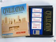 """PC IBM civilización Gran Caja De 3.5"""" MS-DOS Vintage juego de computadora MICROPROSE"""