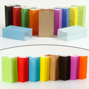 10PCS Gift Party Bags Paper Bag With Handle Shop Birthday Favour Storage Bag Set