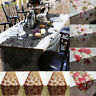 Xmas Maple Leaf Lace Table Runner Wedding Dinner Party Restaurant Web Decor ME