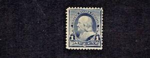 1890- U.S CLASSIC 1c Dull Blue FRANKLIN Sc#219 M/NH/OG  Pretty!