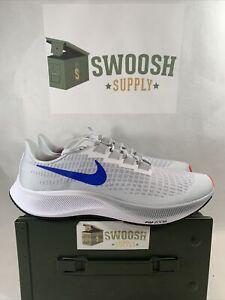 Nike Air Zoom Pegasus 37 Pure Platinum Blue Red BQ9646-006 Men's Size 15