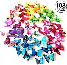 Farfalle 3D 108 Pezzi Adesivi Murali Adesivi da Parete per Casa Decorazione