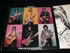 NICK LOWE<>PURE POP FOR NEW PEOPLE<>Lp VINYL~Canada Pressing~columbia pc 35329
