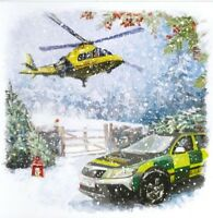 Charity Christmas Card Air Ambulance Service HEMS HELICOPTER Envelopes 10 Pack