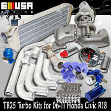 TB25 Turbo+Manifold+Intercooler+Pipings fits06-11 Honda Civic R18 EX DX 1.8L