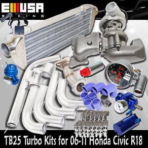 TB25 Turbo+Manifold+Intercooler+Pipings fit 06-11  R18 EX DX 1.8L