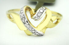 GENUINE DIAMONDS LADY'S RING 10K YELLOW GOLD ** New With Tag **