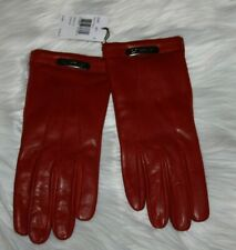 Coach Leather Swagger Glove Black Cherry Women's Size 8 and Pine Gloves
