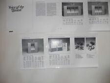 Altec Lansing VOTT brochure from 1980, A1, A2, A4, A7-500, A5, A8 Specs, Info