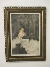 Quadro stampa acquaforte Art Decò anni 30 - firmata  Louis Icart - gravure