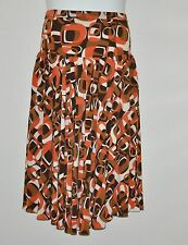 M by Marc Bouwer Printed Skirt Size XS Brown Multi