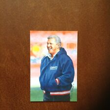 Bill Parcells New York Giants unsigned Goal Line Art Card in Toploader