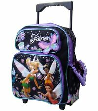 """Tinkerbell Large 12"""" Small Rolling Backpack by Disney For KID - Licensed product"""