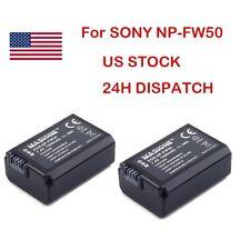 2x NP-FW50 Battery For Sony NPFW50 Alpha NEX-3 3D 3DW 3K 5K 5C 5DB 5HB A55