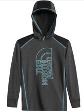 The North Face Kids Long Sleeve Reactor Hoodie Dark Grey Size:L/G 14/16