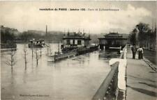 CPA PARIS Gare de la Bourdonnais INONDATIONS 1910 (605580)