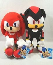 Sega Sonic The Hedgehog Game Knuckles Shadow Stuffed Plush Doll Toy Set