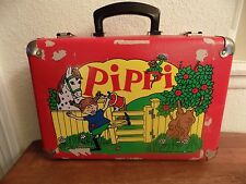 Vintage Pippi Longstocking Suitcase 1960 Luggage