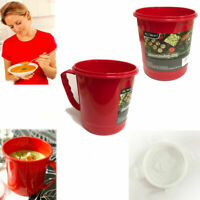 Soup Mug Microwave Plastic Microwavable Cup Travel Camping Heat Hot Food Store