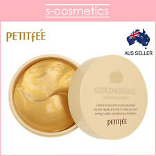 [PETITFEE] Gold & Snail Hydrogel Eye Patch (60 sheets) - Firming Anti-Aging Mask