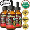 STRAWBERRY Hemp Oil Drops for Pain Relief, Stress, Anxiety, Sleep - (3 PACK)