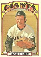 1972 Topps Baseball #643 Russ Gibson San Francisco Giants SP HI NUMBER!!