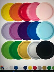 9 inch coloured paper plates packs of 16,32,48,64,80,96