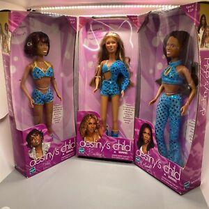 Destiny's Child Doll Beyonce Michelle Kelly Hasbro Complete Grammy Set! NRFB!