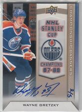 2013-14 Edmonton Oilers Collection Championship Banners Wayne Gretzky 87-88 Auto
