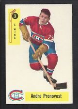 1958 Parkhurst #3 Andre Pronovost, Montreal Canadiens Vintage NHL Hockey 1958-59
