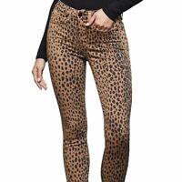 Good American- Women's Good Waist Leopard/Animal Print  Skinny Jeans- Sz 0