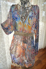 * AS NEW ** GORGEOUS BOHEMIAN STYLE DRESS * SZ L, RRP $178.00