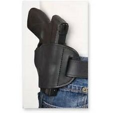Black Leather OWB Belt hand Gun Holster for Ruger LC9 & LC9s