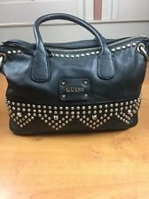 Guess Purse Handbag! Very nice! Black leather with cute accents! Studded