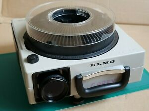ELMO 253E Carousel Slide Projector, Zoom Lens and Tray