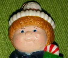 Vintage Cabbage Patch Kids Christmas Ornament Boy Candy Cane 1984