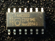 57PCS- 74HC00 PHILIPS so14 2-Input NAND - 1 barre / 1 tube 57 pieces