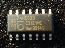 10PCS- 74HC00 PHILIPS SO14 2-Input NAND - 10 pieces