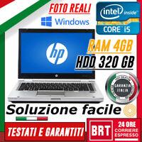 """PC NOTEBOOK PORTATILE HP Elitebook 8470p 14"""" CPU i5 4GB RAM HDD 320GB WIN 10_24H"""